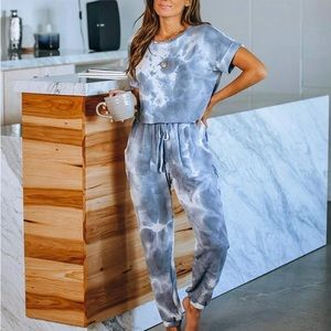 Tie Dye Jumpsuit Pajama
